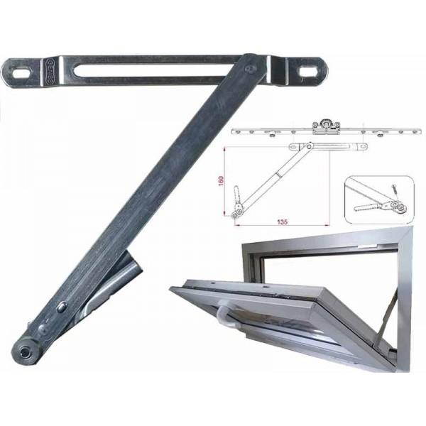 Ограничитель фрамуги (ножницы) Geviss на пластиковые окна