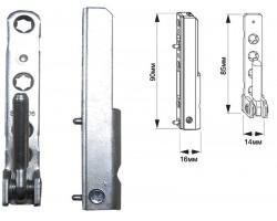 Петля нижняя Geviss 100кг на пластиковые окна и двери