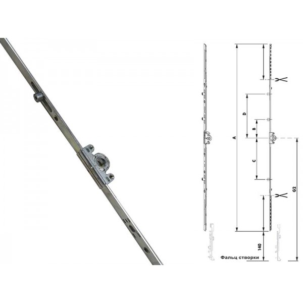 Приводы Geviss поворотно-откидные для пластиковых окон и балконных дверей