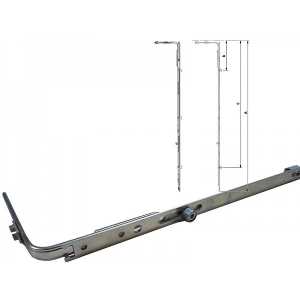 Средние запоры Geviss (Гевис) для пластиковых окон и балконных дверей