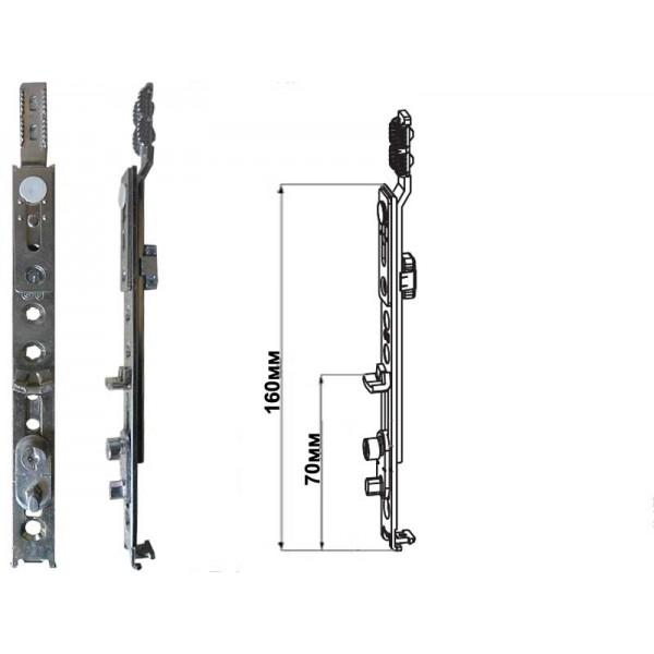 Наконечник нижний G-U (ГУ) EURO-JET с механизмом откидывания на пластиковые окна и двери