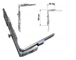 Угловая передача GU ECO - JET SLK короткая на пластиковые окна и двери
