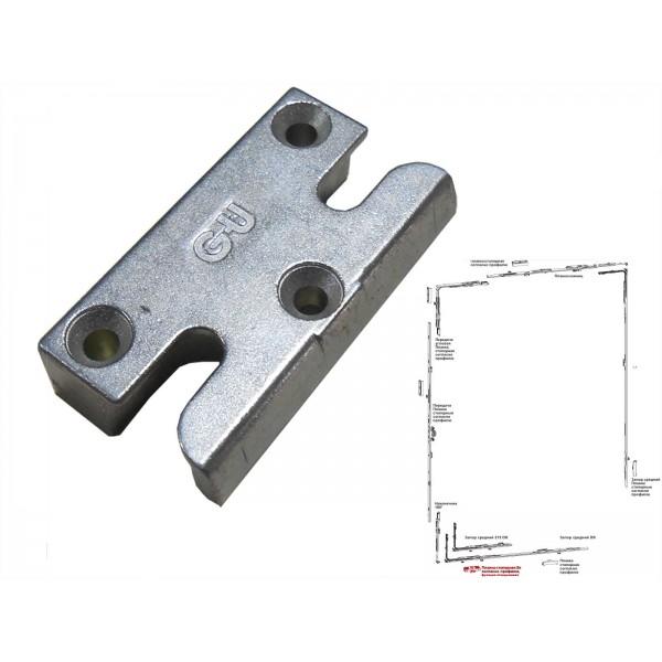 Планка стопорная SE из стали G-U (ГУ) для пластиковых окон и дверей 9мм и 13мм