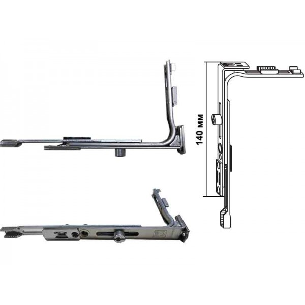 Угловой переключатель (передача) Siegenia Favorit Classic VSO узкий пластиковых окон и дверей