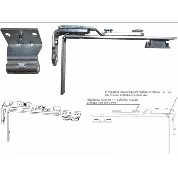 Поворотная петля (ножницы) KALE для пластиковых окон и балконных дверей