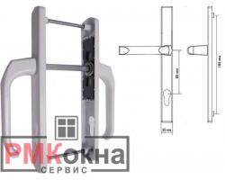 Дверня ручка (гарнитур) для ПВХ двери DENIZ 35/85 подпружиненный белый