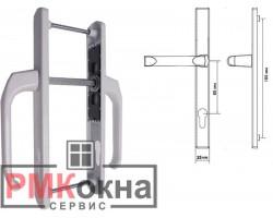 Дверной гарнитур (ручка) ПВХ двери DENIZ 25/85 подпружиненный белый