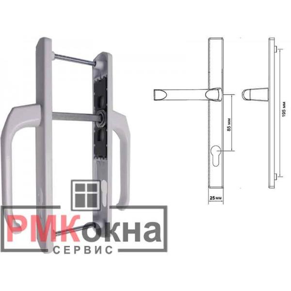 Дверной гарнитур (ручка) для пластиковых ПВХ дверей DENIZ 25/85