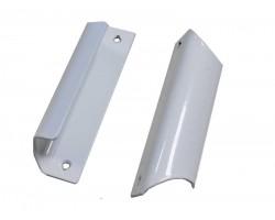 Ручка балконная для пластиковой балконной двери алюминиевая белая