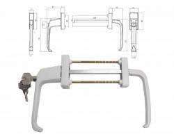 Балконная ручка с замком (гарнитур асимметричный) для пластиковых балконных дверей BHS 2 ASTEX