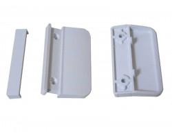 """Балконная ручка """"Лепесток"""" для пластиковой балконной двери, белая"""