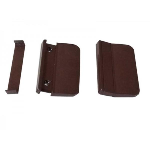 Ручка балконной двери пластмассовая коричневая