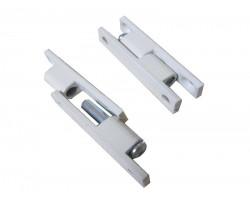 Петля для москитной двери, алюминиевая, Nortex, белая