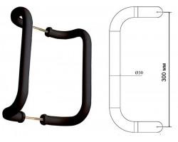 Ручка-скоба 300/30 ASTEX коричневая для пластиковой двери алюминиевая