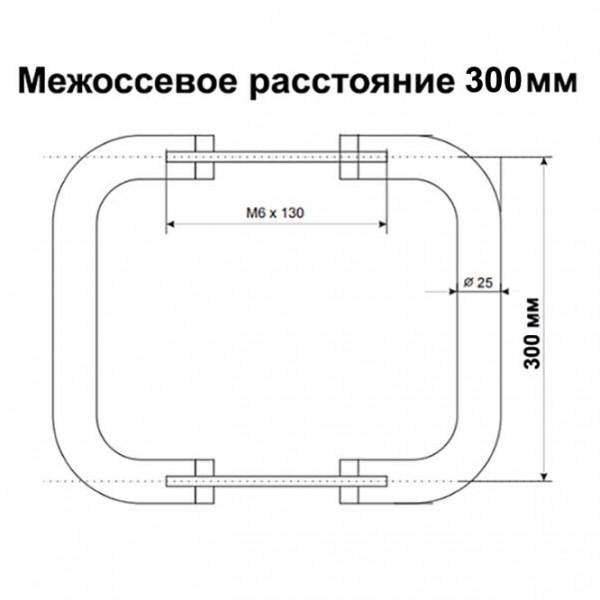 Офисная ручка-скоба для пластиковых дверей 300/30 коричневая