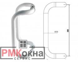 Ручка-скоба 350/30 ASTEX для пластиковой двери алюминиевая белая