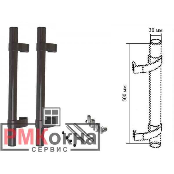 Ручка дверная (прямая) для пластиковых дверей ASTEX 500/30