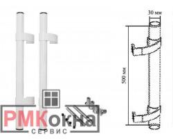 Ручка дверная (прямая) 500/30 ASTEX для пластиковых дверей