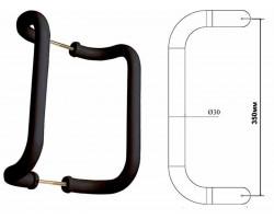 Ручка-скоба 350/30 ASTEX коричневая для пластиковой двери алюминиевая