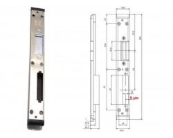 Ответная планка для замка пластиковой двери ASTEX 9 мм левая