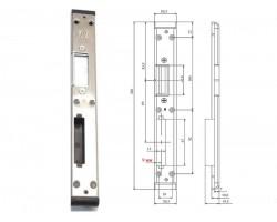 Ответная планка для замка пластиковой двери ASTEX 9 мм правая