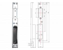 Универсальная ответная планка для замка пластиковой двери ASTEX
