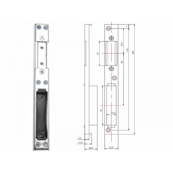 Универсальная ответная планка для пластиковой двери