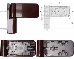 Петля SIMONSWERK 3035 для пластиковой двери, коричневая