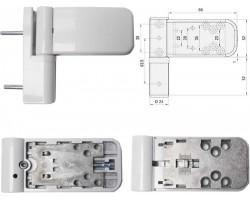Петля SIMONSWERK 3035 для пластиковой двери, белая