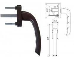 Ручка для пластикового окна ASTEX коричневый