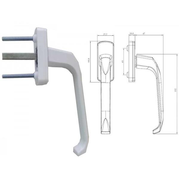 Оконная ручка WHL 002 для пластиковых (ПВХ) окон