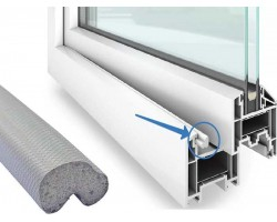 Уплотнитель Schlegel Q-Lon серый на окна и двери Шлегель пластиковые ПВХ