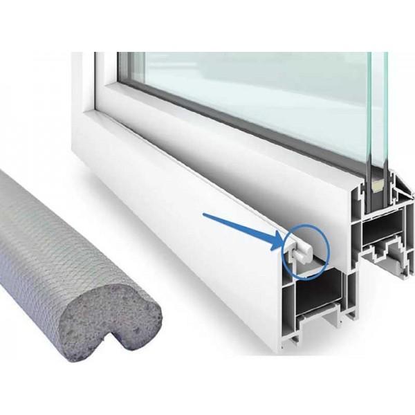 Уплотнитель для пластиковых окон дверей Schlegel Q-Lon серый