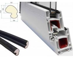 Уплотнитель Schlegel Q-Lon черный для пластиковых (ПВХ) окон и дверей